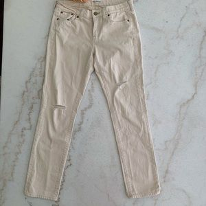 Madewell Boyfriend Slim Jeans - Ivory
